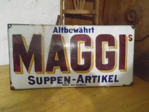 ++Emailschild++Emailleschild++MAGGI++SUPPEN-ARTIKEL++1910++