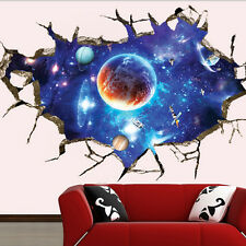 Space Galaxy Stars Planets Universe 3D Wall Mural Photo Wallpaper Wall Sticker U