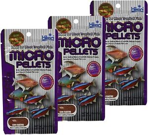 Hikari Tropical Micro Pellet Fish Food 1.58 oz each (3 Pack)