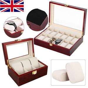 Watch Display Storage Box Jewelry Collection Case Organizer Holder Wooden Gifts