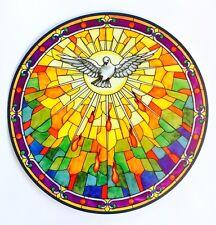 HOLY SPIRIT STAINED GLASS WINDOW SUNCATCHER