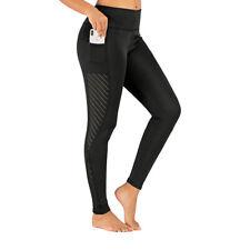 Stylish High Waist Women Girls Yoga Pants Ladies Mesh Yoga Legging Workout Pants