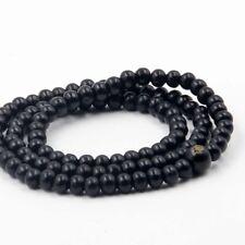 6mm Tibet Buddhist 108 Wood Buddha FO Prayer Beads Mala Bracelet