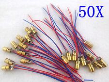 50pcs New 650nm 6mm 5V 5mW mini Laser Dot Diode Module Head WL Red it