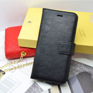 Premium Deluxe Leather Case Wallet Cover Flip Card iPhone Models
