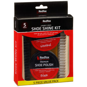 New Red Fox Shoe Shine Kit Everyday use Easy use - 5pc