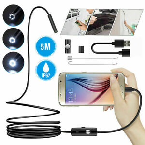 5M USB 6 LED Endoskop Wasserdicht Endoscope Kamera Inspektion für Android DE