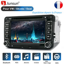 "7"" 2 Din Autoradio GPS Navi DVD CD Bluetooth Para VW Golf 5 Plus Passat Polo EOS"
