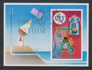 Korea - 1976, Centenary of 1st Telephone Call sheet - F/U - SG MSN1497