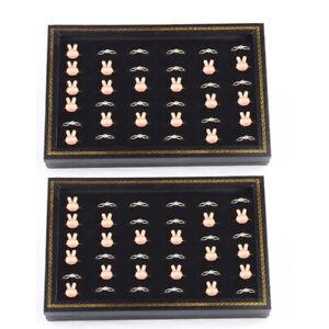 Kunststoff+Samt 2er 36 Ringe Ringbox Ringdisplay