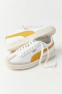 NEW IN BOX PUMA SHOES Oslo City OG Sneaker White Lemon Yellow M 8.5 / W 10