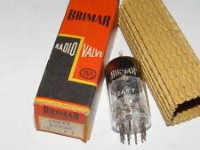 RARE VINTAGE BRIMAR 12AT7 / ECC81 BLACK PLATES HIGH GAIN VALVE TUBE