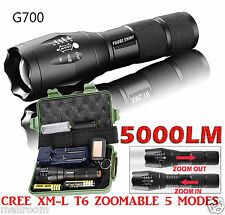 G700 ShadowHawk X800 LED Zoom Grade Tactical 5000LM Taschenlampen Torch+2x 18650