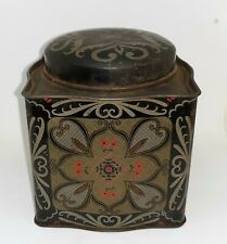 Vintage American Chinese Themed Tea Tin Canister Decor Kitchen Food Storage Box circa 1980-90/'s  English Shop