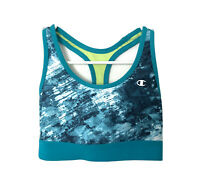 Champion 6715 Absolute Sports Bra Womens Size XS Blue Racerback Medium Support