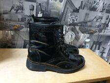 River island Platform Women  Black Patent Leather Ankle Boots Size 8/41