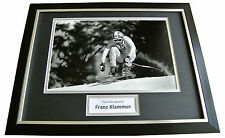 FRANZ KLAMMER Signed FRAMED Photo Genuine Autograph 16x12 Display Skiing & COA