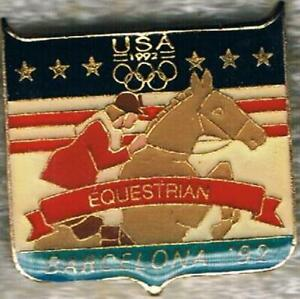 1992 Barcelona USA Olympic Equestrian Team NOC Sports Pin