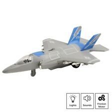 Toy Airplane Fighter Jet Friction Powered With Lights And Sounds For Kids TE-65