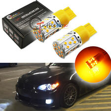 2x Amber No Resistor Required 7440 3535 LED Front Rear Turn Signal Lights Bulbs
