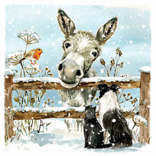 Charity Christmas Card Pack - Donkey & Friends