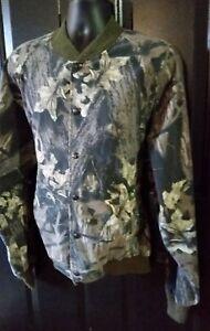 Vintage Mossy Oak Break Up Jacket Camouflage Snap Cotton Blend Mens Size XL