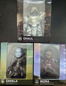 "Destiny 3-pack Zavala Ikora Ghaul 4"" Figures Official Bungie Collector Set NIB"