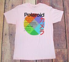 POLAROID Large 320 Land Camera Pink Tee Shirt Photography #53C