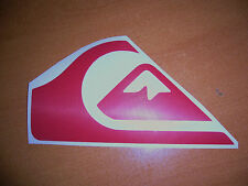 "Quiksilver Surfing Logo ~ vinyl window decal car bumper sticker red 4"" Roxy"