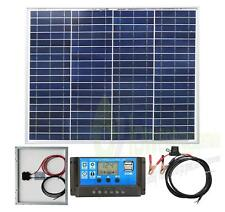 40w Poly Solar Panel Battery Charging Kit Charger Controller Boat Caravan HomeK1