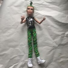 Deuce Gorgon Muñeca Monster High Boy 1st Wave 2008 verde moldeado pelo Madusa Serpiente