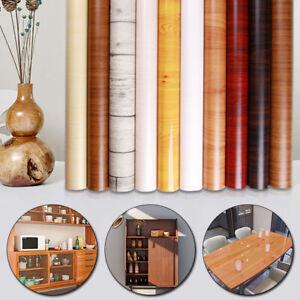 PVC Wall Sticker Self Adhesive Imitation Wood Grain Wallpaper For Furniture Home