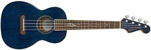 097-1752-127 Fender Dhani Harrison Ukulele Sapphire Blue Transparent