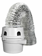 "TDIDVKZW Dryer Indoor Vent Bucket Kit Aluminum Flex 4"" x 5' Wall or Floor Mount"