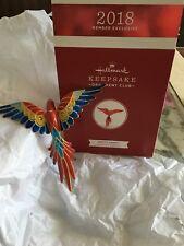 Hallmark 2018 Pretty Parrot KOC Member Exclusive Keepsake Ornament  MIB