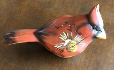 Giftcraft Decorative Red Wood Painted Cardinal Bird Collectible