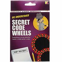 Secret Code Wheels Kit - Children's Top Secret Spy Message Making Spy Toy