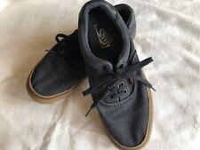 VANS Off The Wall Men's S 8.5 Gray Textile Lace Sport Retro Sneakers Shoes