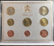 >>> VATICANO 2020 SERIE DIVISIONALE 8 MONETE EURO PONTIFICATO PAPA FRANCESCO