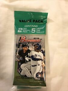 2019 Bowman Value Pack-Contains 2 Packs and a 5 Card Exclusive Camo Pack