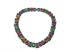Vintage Cabochon Jewels of India Style Necklace