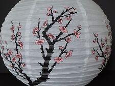 "Set of 4 Japanese 16"" Paper Lantern Ume Plum Pattern Party Wedding Decoration"
