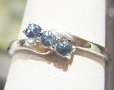 Montana Sapphire CORNFLOWER BLUE Cluster Ring 3mm Round Cut Sz.7 Authenticity