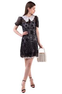 RRP€3360 CHLOE Sheath Dress Size 36 / XS Silk Blend Embroidered Stars Inner Slip
