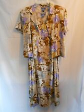 a8308acc59 Paradise Bay Misses Size M 2- piece Dress and Jacket Floral Pattern