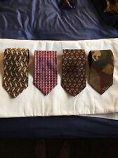 Lot Of 4 Silk Neckties Valentino Pierre Cardin Alfani Robert Talbott