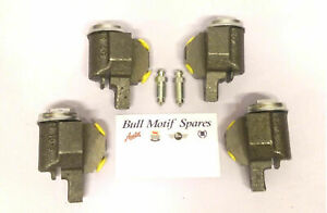 Morris Minor Front Brake Wheel Cylinders - Set of 4 - 1954-On with Bleed Screws