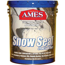 Ames Research SSC5 Snow Seal Elastomeric Roof Coating, 5 Gallon, Bright