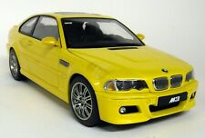 Autoart 1/18 Scale - 70542 BMW M3 E46 Coupe Phoenix Yellow Diecast Model Ca