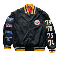 Vintage Pittsburgh Steelers 4 Time Super Bowl Champions Jacket XL FITS LARGER